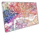 CITY OF LONDON Street Map Art Print watercolour Ready to Hang MSDWCEN323