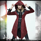 goth aristocrat Rogue Priest layered look Leatherette hooded jacket【CT06402】
