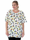 Women's Plus Size Mickey & Minnie Mouse All-Over T-Shirt White