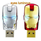USB 2.0 Flash Memory Stick 4GB 8GB 16GB 32GB Iron man Pen Drive U Disk Top