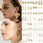 Boho Vintage Geometric Drop Long Dangle Circle Large Hoop Earring Jewelry Party