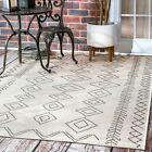 nuLOOM Contemporary Modern Geometric Moroccan Outdoor Area Rugs, Ivory