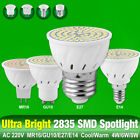 220V LED Bulb GU10 E27 MR16 E14 Base Lamp 8/6/4W High Bright 2835 Spotlight 5A7