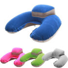 Inflatable Travel U-Shape Pillow Air Cushion Neck Rest Compact with Pouch