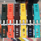 20 22 24mm Isofrane-Inspired Silicone Rubber Dive Watch Strap 7 Colours 95/135MM