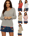 Womens Crochet Ripped Jumper Top Ladies Distressed Open Back Long Sleeve 8-14