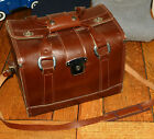 Brown Leather Camera Case w/Dividers and Key FB-11