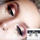 Gold-Color Glitter Face Temporary Tattoo Stickers Body Art Water Decals Sticker