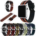 Many Colors Sports Replace Wrist Strap Band+Metal Adapter For Apple Watch 1 2 3