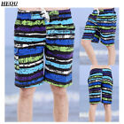 Men's Stripe Quick-Dry Swimwear Shorts Beach Pants Surf Father's Day Gift