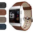 Premium Genuine Leather Bracelet Strap Wristband For Fitbit Ionic Smart Watch
