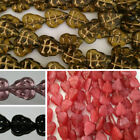 Czech Glass Leaf Beads 10mm x 8mm - 25 Pack - handmade jewellery, leaves, floral