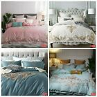 Embroidered Quilt Duvet Doona Covers Set King/Queen Size Bed Pillow Case Cotton