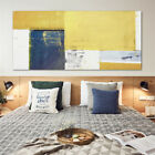 Mustard Yellow Grey Abstract Painting Canvas Wall Art Print Pictures Unframed
