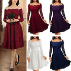 Women's Ladies Retro Lace  Skater Party Evening Retro Dress Size S-2XL GIFT