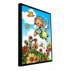 ArtWall Luis Peres 'Yellow Tulips 2' Floater Framed Gallery-wrapped Canvas -