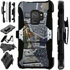 For Samsung Galaxy Phone Case Holster Kick Stand Cover CAMO METAL SCRAP LuxGuard