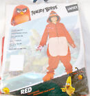 Rubies Angry Birds Movie Red Unisex Child Costume Hooded Jumpsuit S M NIP