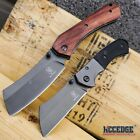 "2PC BUCKSHOT COMBO 8"" CLEAVER STYLE POCKET KNIFE + 6.5"" MINI CLEAVER POCKET KNIF"