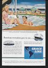 GRACE LINE AMERICAN RECREATION GOES TO SEA ON SANTA'S TILED SWIMMING POOLS AD
