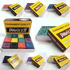 Pool Snooker Billiard Cue Tip Table Chalk Box Genuine Pioneer Choose Colour $5.53 USD on eBay