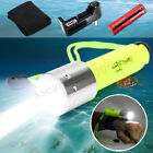 Внешний вид - 50000LM Scuba Diving Flashlight T6 LED Underwater 50M Torch Lamp+18650 +Charger