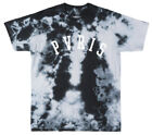 PVRIS TIE DYE T-SHIRT ROCK BAND MUSIC TEE MENS BLACK WASHED NWT image