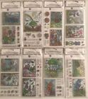 Choice Of Hampton Art Coloring Stamp Sets w/4 Yds Of Fiber & Sticker 8 Types New
