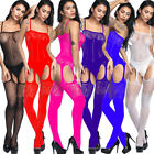 Внешний вид - Women One Piece Open Body Stockings Perspective Sexy Mesh Underwear NightWear