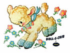 Внешний вид - Vintage Image Lamb Amsco Doll-E-Crib Furniture Transfers Waterslide Decals AN839