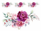 Внешний вид - Shabby Watercolor Pastel Peonies Roses Swag Transfers Waterslide Decals FL378