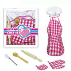 Fun Kitchen Cooking Utensil Pretend Play Educational Toy Apron Cake Mold Whisk