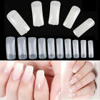 500 PCS Natural Clear False Acrylic UV Gel Half French Nail Art Tips Tools