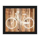 Bicycle Wood Framed Canvas Wall Art