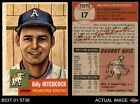 1953 Topps #17 Billy Hitchcock Athletics EX