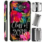 SILVER GUARD For Alcatel/ ZTE/ Huawei Phone Case Cover CLASS OF 2018 FLOWER