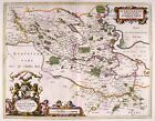 Map Antique Blaeu Scotland 1654 Stirling Old Large Replica Canvas Art Print