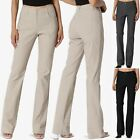 TheMogan S~3X Women Bootcut Stretch Work and Casual Pants Ba