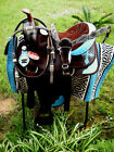 Western Cordura Trail Barrel Pleasure Horse SADDLE Bridle Tack Brown 4950