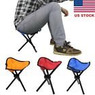Newest Mini Outdoor Tri Folding Chair Stool Camping Fishing Picnic Small Seat US