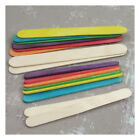 NATURAL OR COLOURED FLAT WOODEN LOLLIPOP STICKS CRAFTS MODEL MAKING KIDS ART