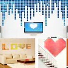 200PCs Self-adhesive Mirror Tile 3D Wall Sticker Decal Mosaic Room Decor GIFT