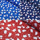 Polycotton Fabric Christmas Xmas Polar Bears On Ice & Constellations Festive