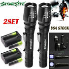 50000Lumens Tactical 5-Mode T6 Zoomable Focus 18650 LED Flashlight Torch Light