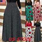USA Women Long Sleeve Splice Floral Long Maxi Dress Cocktail