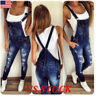Casual Women Straps Jumpsuit Denim Jeans Bib Pants Overalls
