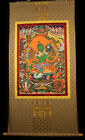 "@Wonderful Nice Old Nepal Buddhism Hand Painted Thangka Tangka ""The Green Tara""@"