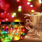 10/20LED Fairy Light Solar Mason Jar Lid Lights Color Changing Décor fa#21