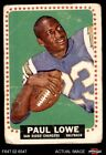 1964 Topps #165 Paul Lowe Chargers FAIR $6.0 USD on eBay