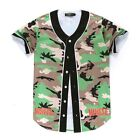 Camouflage T shirt 3d Printing Lovely Casual Summer Tees Baseball Jersey Fashion
